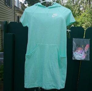 Nike Vintage Collection Hoodie Dress Seafoam NWT